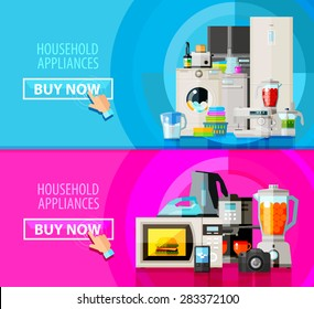 Kitchen Appliances Banners Images Stock Photos Vectors