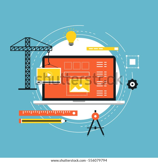 Application Development Api Interface Flat Vector Stock