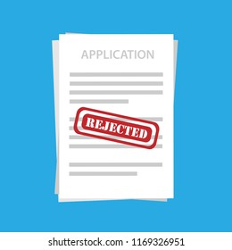 Application File Rejected Vector Illustrations