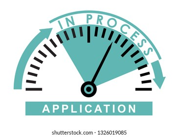 application  in process - monitoring  scale -  illustration template