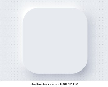 Application Realistic Apple Icon Blank Template Mockup White