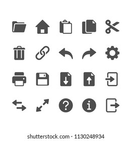 Application toolbar glyph icons