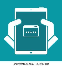 Application top rating - Flat minimal icon
