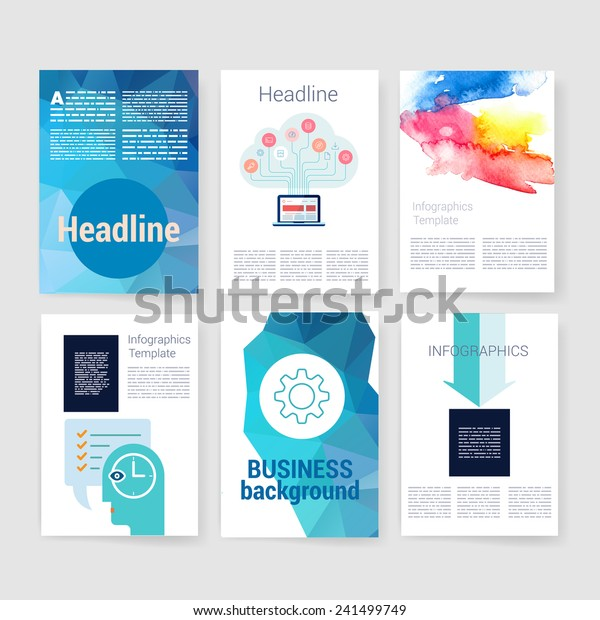 Applications Infographic Concept Flyer Brochure Design Stock Vector Royalty Free 241499749