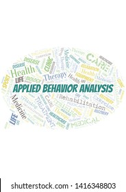 Applied Behavior Analysis word cloud. Wordcloud made with text only.