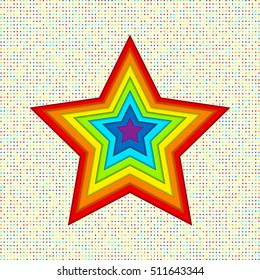 Applique stars of the paper in rainbow colors. Creative abstract background for your design. LGBT colors, symbol of peace, gay culture. Vector illustration