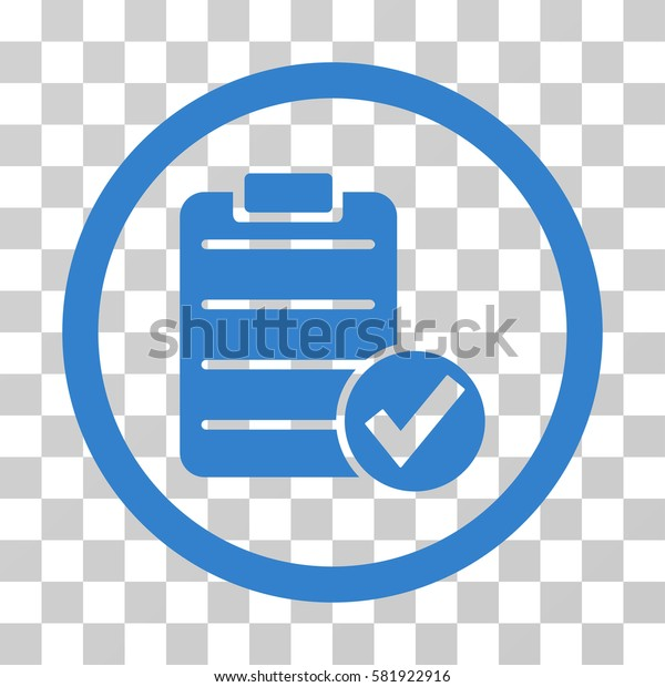 Apply Form vector icon. Illustration style is a flat iconic cobalt symbol on a transparent background.