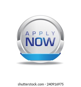 Apply Now Blue Circular Vector Button