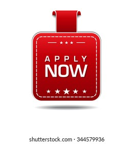 Apply Now Red Vector Icon Design