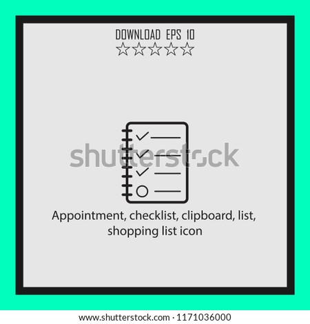 appoinment checklist shopping list icon vector icon