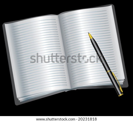 appointment book blank pages pen stock vector royalty free