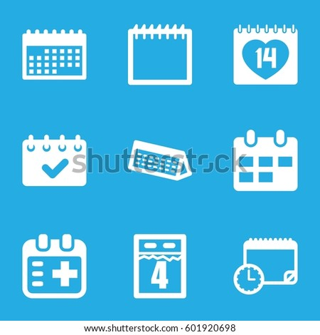appointment icons set set 9 appointment stock vector royalty free