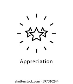 Appreciation Vector line Icon