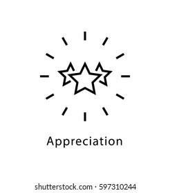 Appreciation Vector line Icon