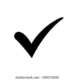 Approval check icon isolated, quality sign, tick – vector