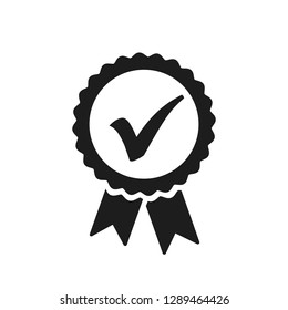 Approval check icon, quality sign – for stock vector