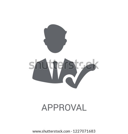 approval icon trendy approval logo concept stock vector royalty