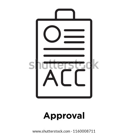 approval icon vector isolated on white stock vector royalty free
