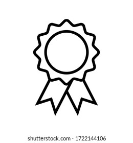 approval medal icon symbol vector on white background. award icon. editable