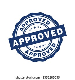Approved badge sign vector design templates
