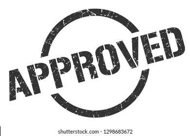 approved black round stamp