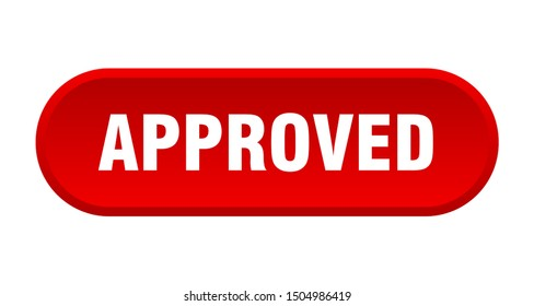 approved button. approved rounded red sign. approved