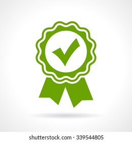 Approved certificate icon isolated on white background