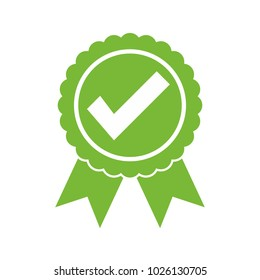 Approved certified icon. Certified seal icon