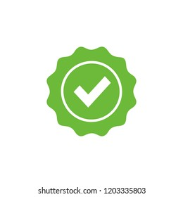 Approved or Certified Medal Icon Vector