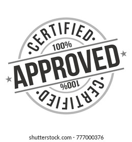 Approved Certified Quality Original Stamp Design Vector Round Art.