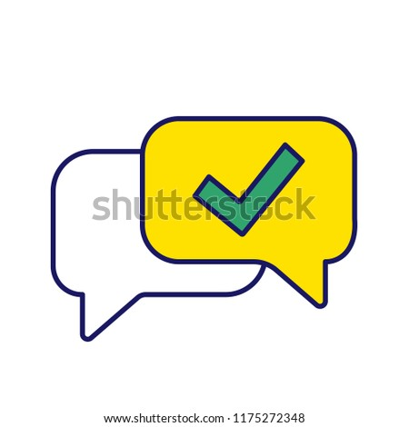 approved chat color icon delivered message stock vector royalty