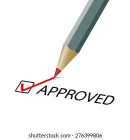 Approved check mark illustration
