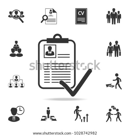 Approved Curriculum Vitae Icon Set Human Stock Vector Royalty Free