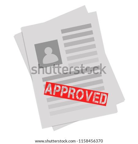 Endorsed Agreed Validated Symbol And Stamp Flat Design Grey