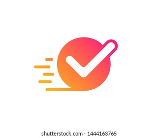 Approved icon. Accepted or confirmed sign. Classic flat style. Gradient checkbox icon. Vector