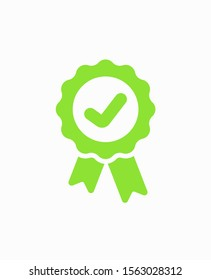 Approved icon. Medal, Award icon vector illustration EPS10