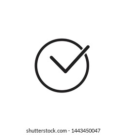 Approved Icon Vector Logo Template