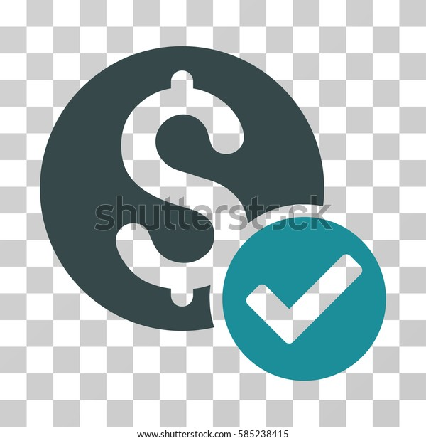 Approved Payment icon. Vector illustration style is flat iconic bicolor symbol, soft blue colors, transparent background. Designed for web and software interfaces.