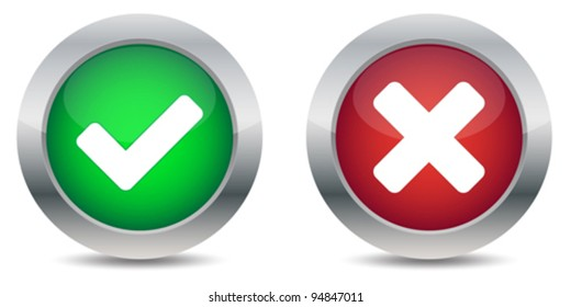 Approved and rejected buttons