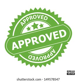 Approved rubber stamp sign.-eps10 vector