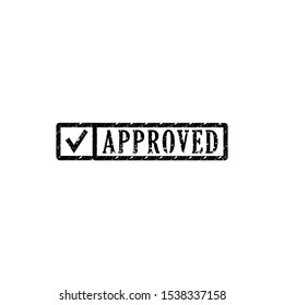 approved sigh in icon trendy flat design