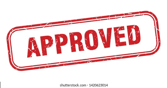 approved square grunge isolated stamp. approved sign