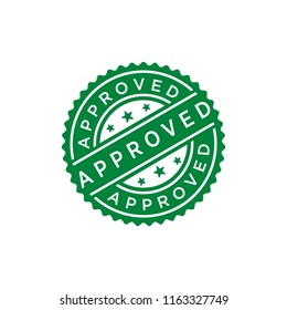 Approved Stamp Vector Template