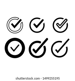 approved symbol, check mark list icons