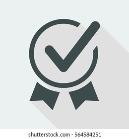 Approved symbol - Vector web icon
