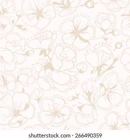 apricot flowers pattern