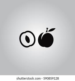 Apricot vector icon