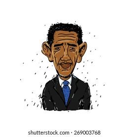 April 16. 2015: Barack Obama illustration