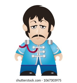 April 2018 - Beatle Paul McCartney - Vector Illustration - Sgt. Pepper's Lonely Hearts Club Band
