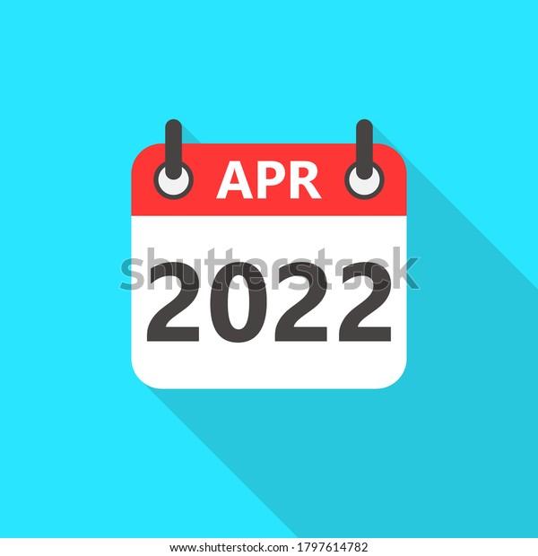 Free April 2022 Calendar.April 2022 Calendar Flat Style Icon Stock Vector Royalty Free 1797614782